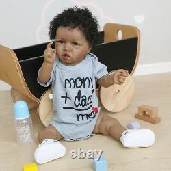 22'' Realistic Reborn Baby Dolls Lifelike Newborn Boy Doll Vinyl Body Xmas Gifts