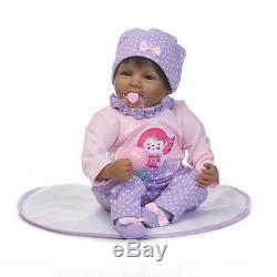 22 Reborn Baby Doll Black African American Silicone Vinyl Realistic Lifelike