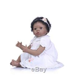 22 Reborn Baby Doll Girl Black African American Doll Ethnic Biracial Bebe Dolls
