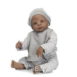 23 Reborn Baby Doll Realistic Biracial Newborn Black African American Boy Doll
