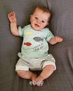 24'' Reborn Baby Toddler Boy Doll Real Lifelike Soft Silicone Newborn Dolls Gift