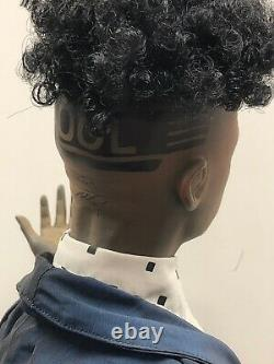 25 Artist Porcelain Doll By Uta Brauser African American Hand Painted German #S