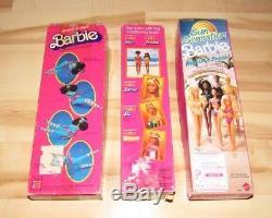 3 Barbies Lot Malibu Christie Great Shape Steven African American 1981 83 In Box