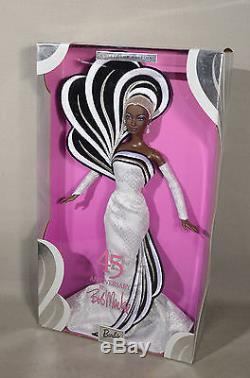 45th Anniversary Bob Mackie Barbie Doll African American Aa