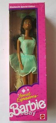 (4) African American Barbie Dolls Skipper, Christie, Bedtime, Special Expression