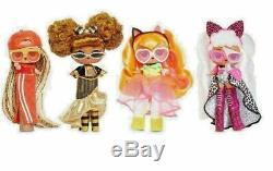 4 LOL Surprise JK Mini OMG Fashion Dolls Complete Set Series 1 Miniatures New