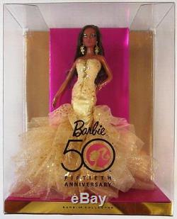 50th Anniversary African American Barbie Glamour Doll (New)