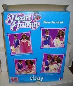 #5544 NRFB Vintage Mattel Heart Family African American New Arrival Set