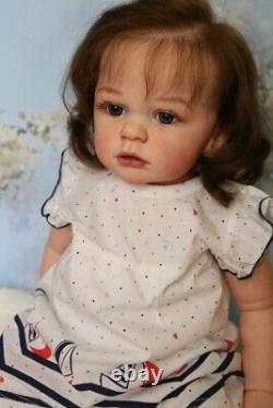 60CM 3D-Paint Skin Soft Silicone Cloth Body Reborn Baby Doll Toys For Girl Gift