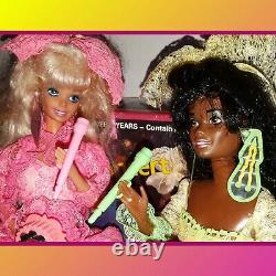 90's Lights & Lace Barbie Christie Teresa Dolls Lot Music Band Live Concert Set