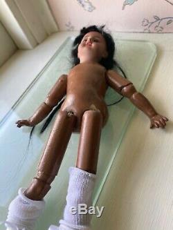 9 German Simon Halbig Black Doll with Original Wig