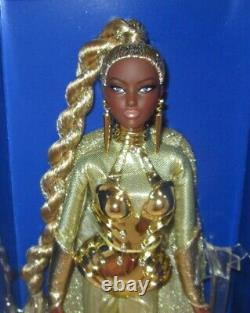 AA 2017 Barbie Convention Doll Golden Galaxy Barbie NRFB LE330 with SIGNED COA
