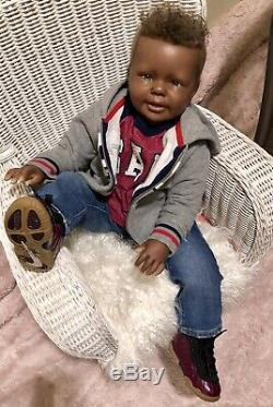AA African American Reborn Toddler doll Katie Marie by Ann Timmerman