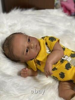 AA Biracial Reborn Baby Doll Robin Awake By Nikky Jhonston