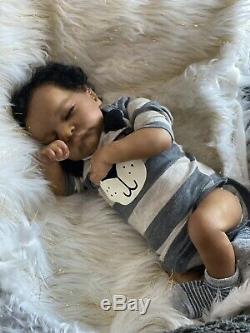 AA Biracial Reborn Baby Doll levi So Precious