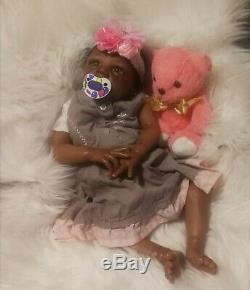 AA ETHNIC Biracial reborn baby Kyra