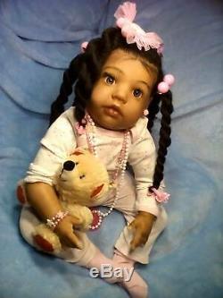 (AA), Ethnic Realistic Baby Girl Doll, Lillian