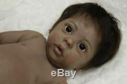 AA/Ethnic Willow Full Body Solid Silicone baby girl by Laura Tuzio Ross Eco 30