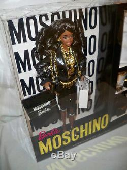 AA Moschino Barbie Doll African American NRFB #DNJ32 Mattel 2015 Only 700 made