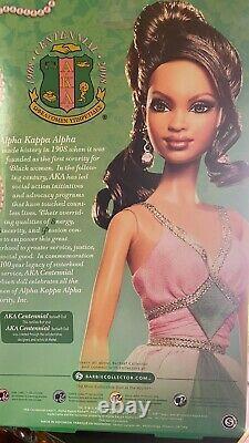 AKA Centennial 2008 Barbie Alpha Kappa Alpha Black Like Me NRFB! Rare