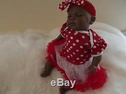 AMANITA AA BABY GIRL African American Ethnic Reborn Doll Child Birthday Xmas