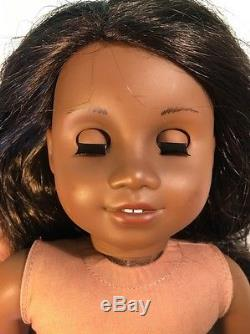 AMERICAN GIRL African American 18 Doll Black Brown Hair Eyes