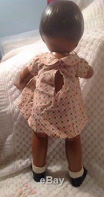 A-81 Vintage EFFANBEE Composition Patsy Ann Restored Black African American Doll