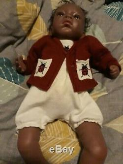 A RealBorn Baby Doll African American JESSICA Few Month Old Size fully clothed