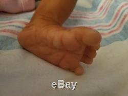 Adorable Ethnic AA Biracial Reborn Baby Doll