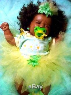African American (AA), Biracial, Ethnic Latina Realistic Baby Berengue Girl Doll