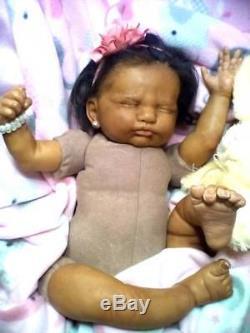 African American (AA) Biracial, Ethnic Latina Realistic Berenguer Baby Girl Doll
