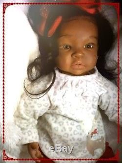 African American AA, Biracial, Ethnic Latina, Reborn Baby Girl Doll Shyann