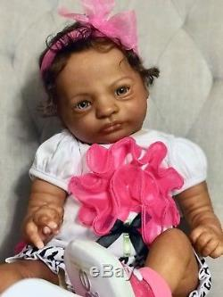 African American Aa black girl ethnic reborn Bountiful baby doll Presley sculpt