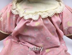 African American BABY LOVES TO TALK Doll Toy Biz 1992 RARE SEE VIDEO HTF