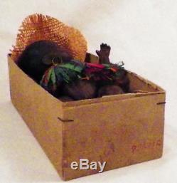 African American Black Bisque Head Doll Ernst Heubach 399 Native Antique