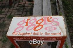 African American Black Ideal Giggles Doll, MIB, She Works! Original Box & Outfit
