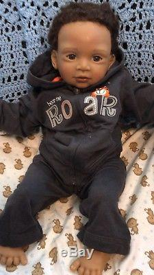 African American Calvin And Teddy Lifelike Baby Doll