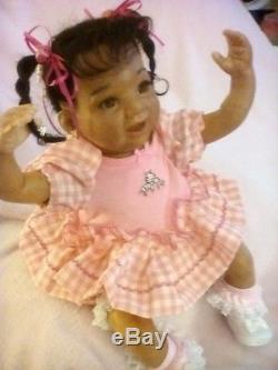 African American Ethnic/Bi-Racial Baby Girl Realistic Reborn Doll