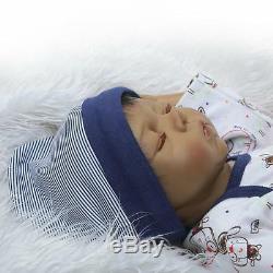 African American Ethnic Doll Realistic Reborn Baby Boy Lifelike Silicone Vinyl