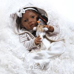 African American Ethnic Doll Realistic Reborn Baby Girl Lifelike Soft Vinyl