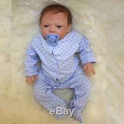 African American Ethnic Lifelike Reborn Baby Doll Full Body Silicone Newbon Boy