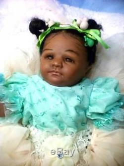 African American, Ethnic Realistic Baby Girl Doll, Savannah