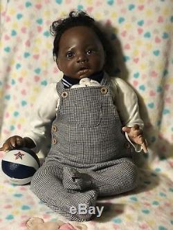 African American Ethnic black boy reborn doll Bountiful Baby Lulu sculpt OOAK