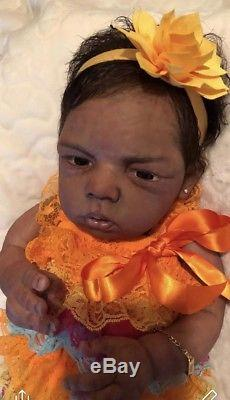 African American Full Body Boo Boo Silicone Baby Doll