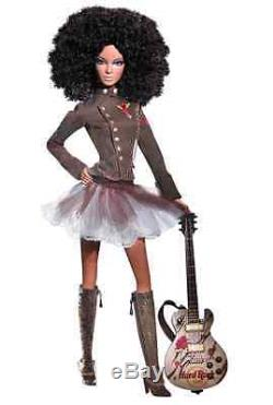 African American Hard Rock Cafe Barbie Doll & Collector's Pin NRFB