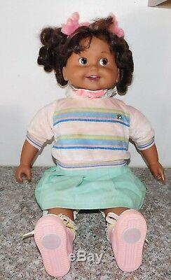 African American Playmates 25 Talking Black Cricket Doll w 2 Books & Cassettes