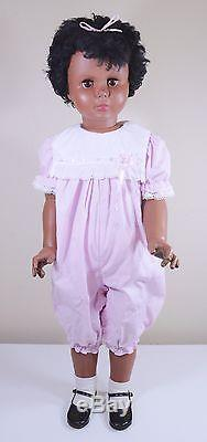 African American Playpal Companion Doll Uneeda #U31 35 Brown Eyes 1960's Black