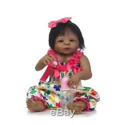 African American Reborn Baby Doll 23in. / 57cm Silicone Vinyl Newborn Handmade