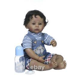 African American Reborn Baby Dolls Lifelike Weighted Black Reborn Boy Doll 22'