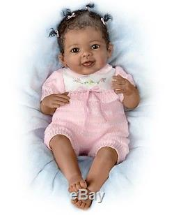 African American Taylor's Ticklish Toes! 22 Inch Collectors Baby Girl Doll